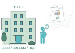 Les FDES peuvent être valorisées pour les cerification LEED, BREEAM, HQE
